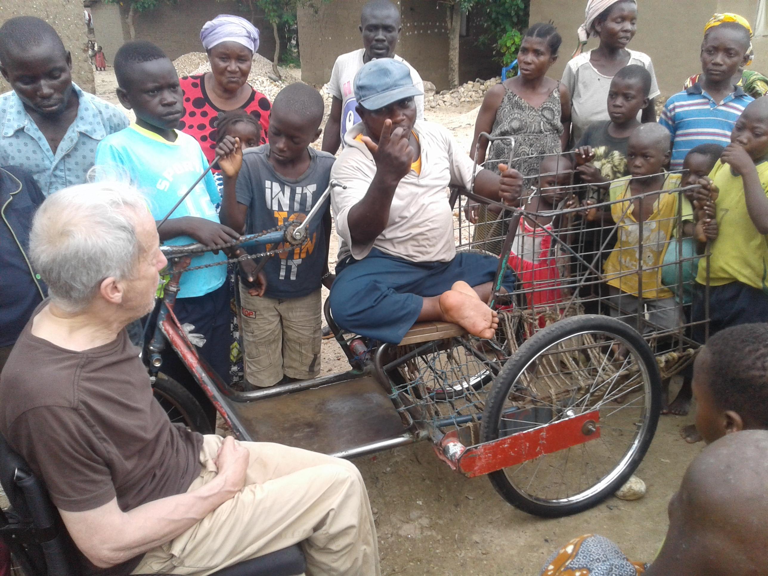 Mann mit Dreirad